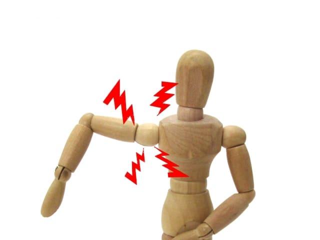 肩の痛み人形